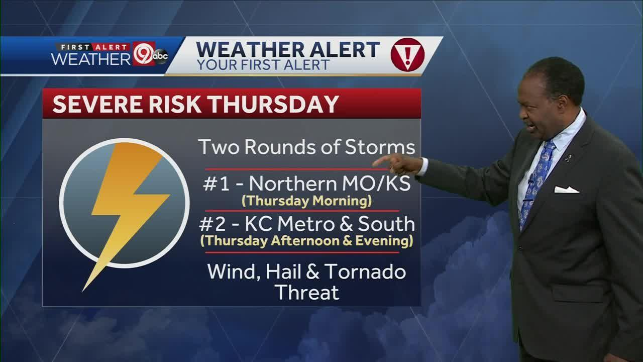 Rounds of severe weather possible Thursday