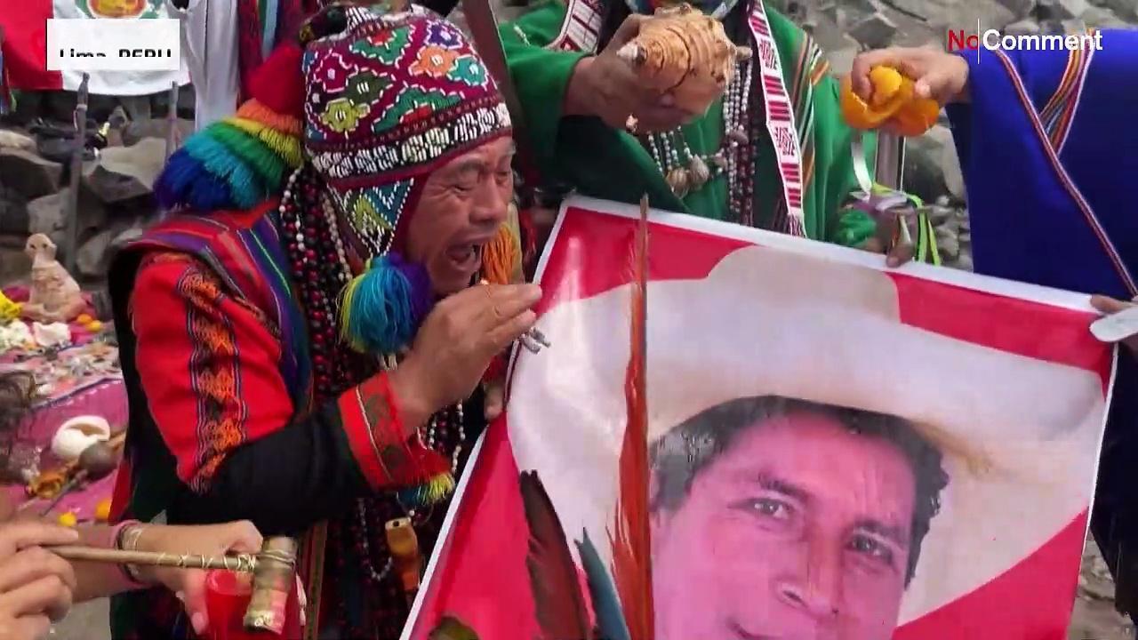 Shamans cast spell for Castillo to beat Fujimori in Peru election