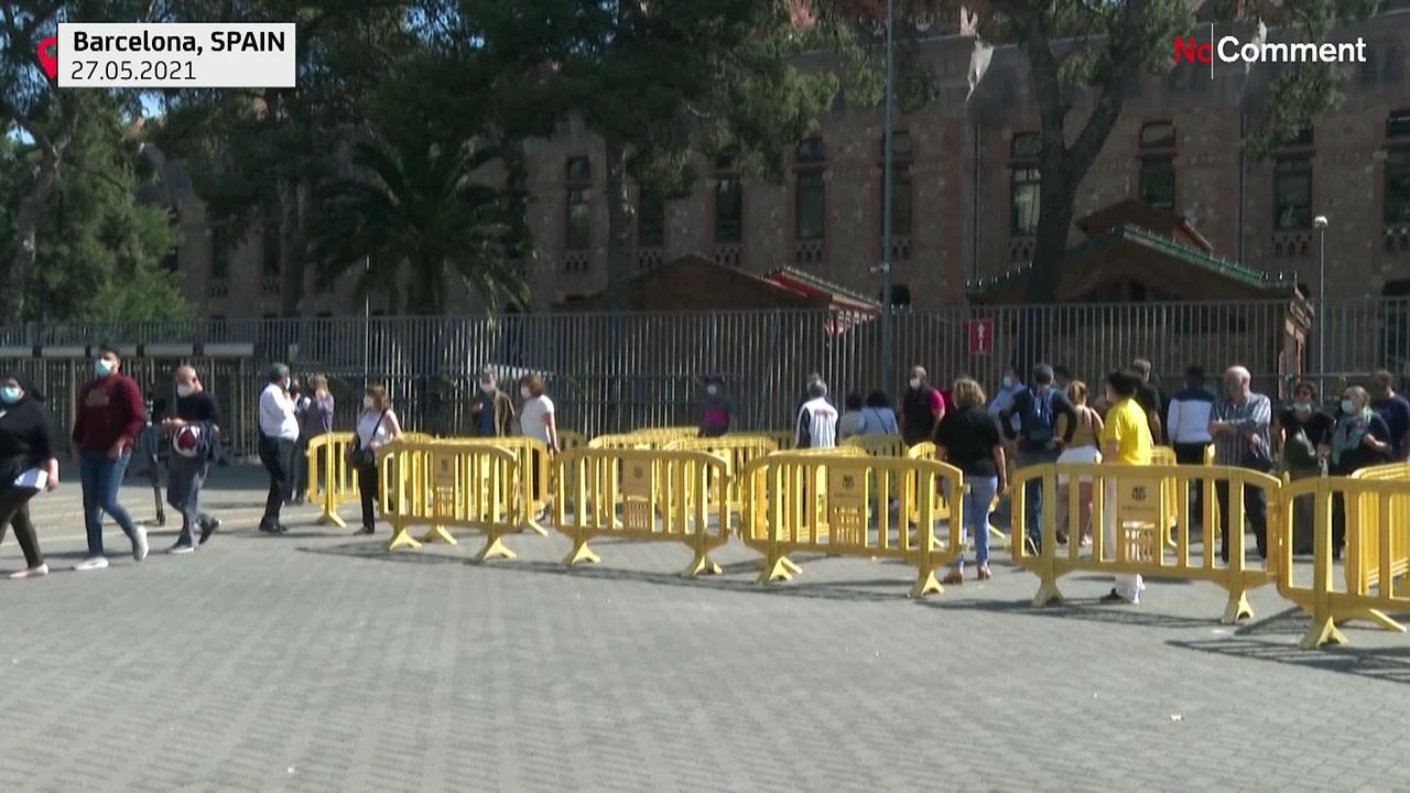 Barcelona's Camp Nou stadium open mass Covid-19 vaccination centre