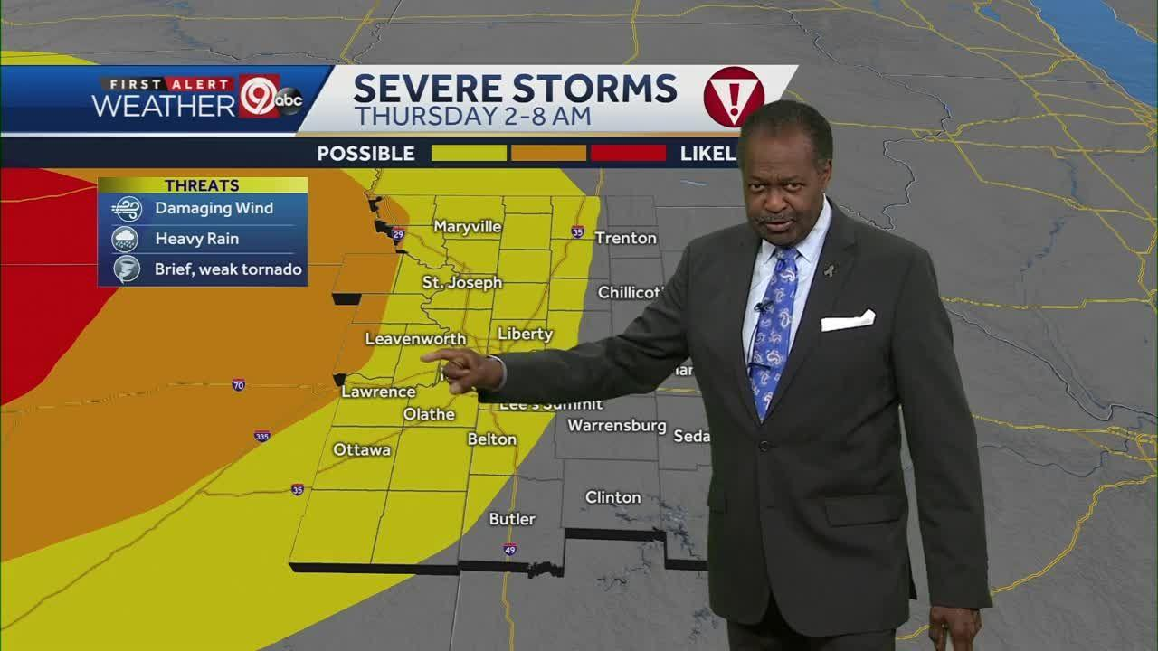 Rounds of storms expected for your Thursday