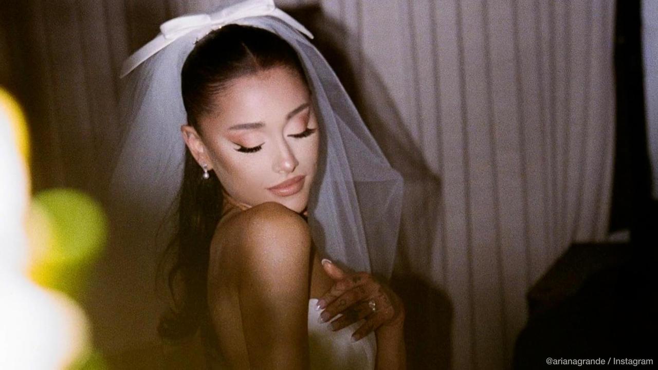 Ariana Grande shares wedding day photos