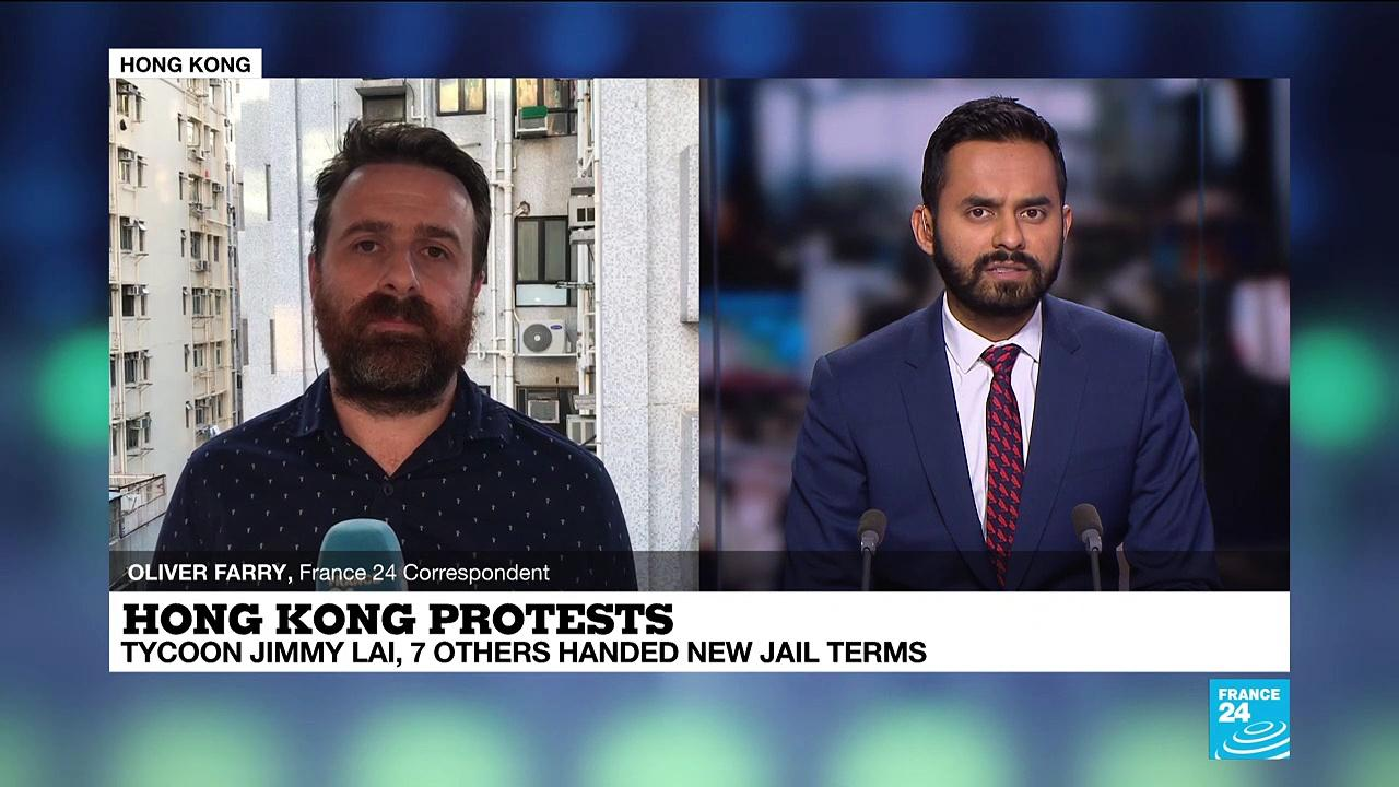 Jimmy Lai among eight more Hong Kong democracy activists jailed