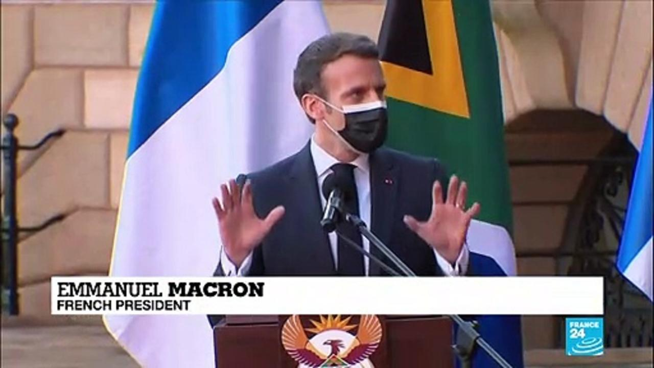 Pandemic takes centre stage in Macron's South Africa trip