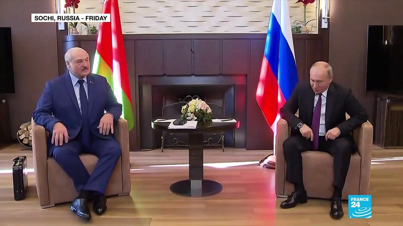 In meeting with Putin, Lukashenko rails against EU sanctions
