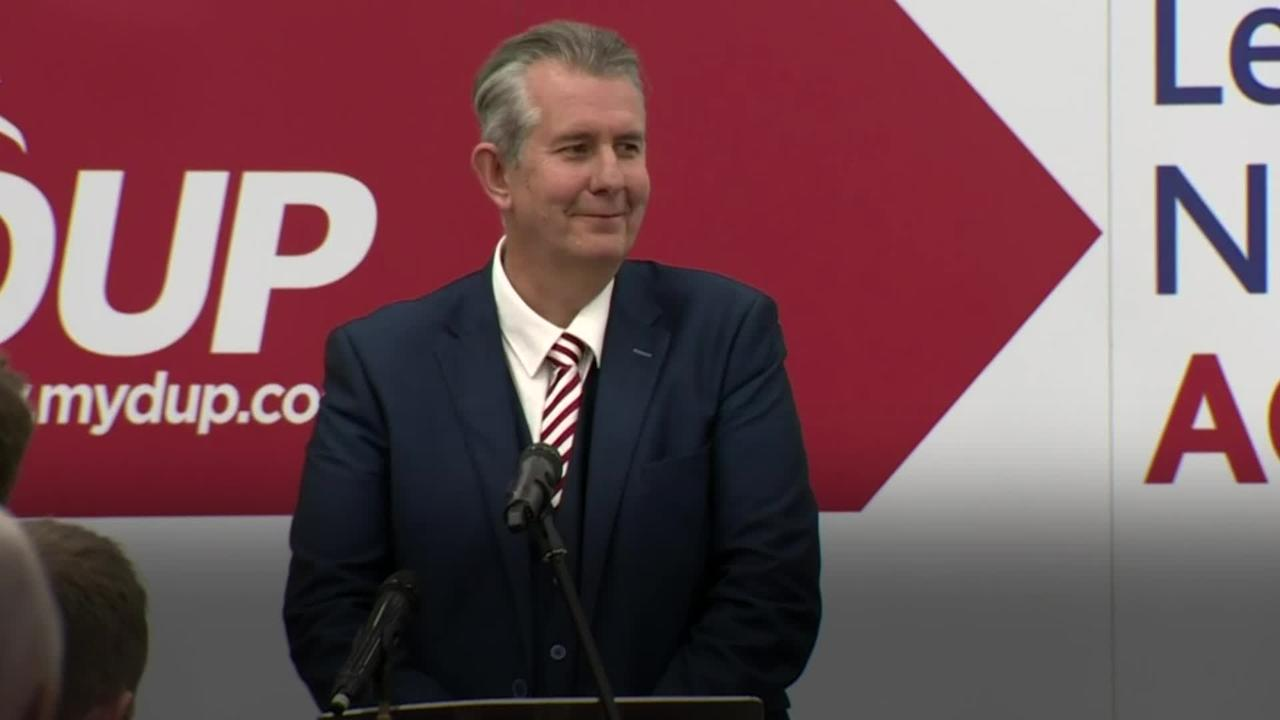 Edwin Poots officially ratified as new leader of Democratic Unionist Party