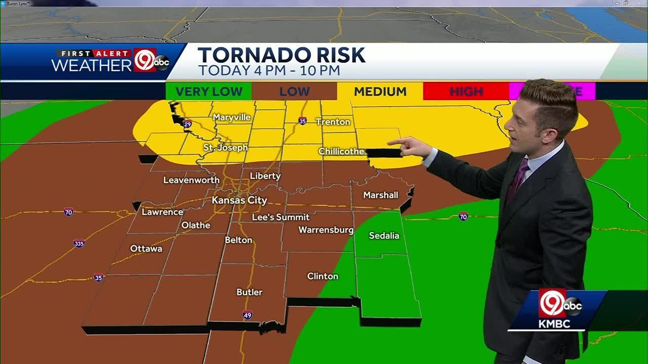 Strong storms possible Tuesday evening