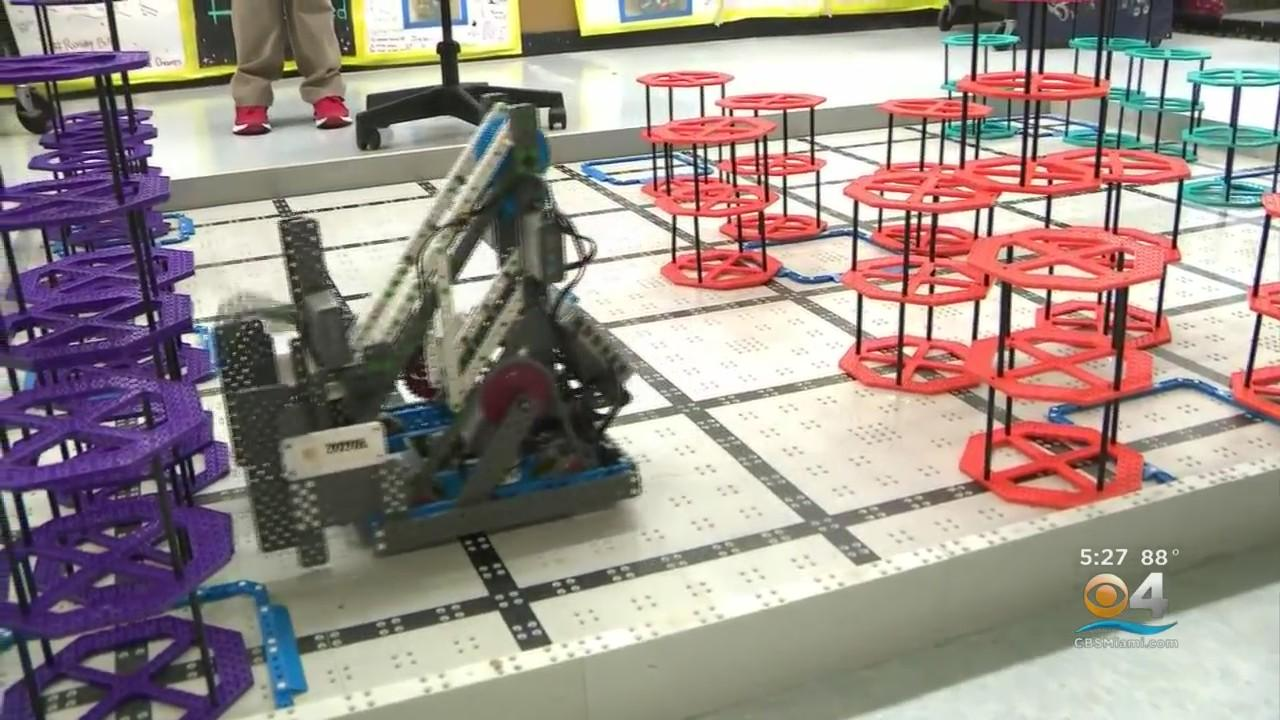 7th Graders From Miami Rockway Middle School Representing Miami-Dade At International Robotics Competition