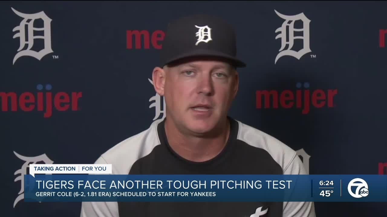 Tigers face another tough pitching test in Cole
