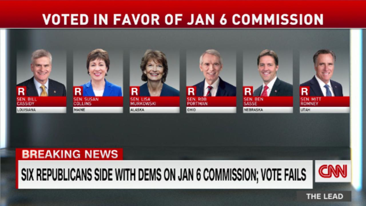 Senate GOPers vote to block a bipartisan January 6th commission
