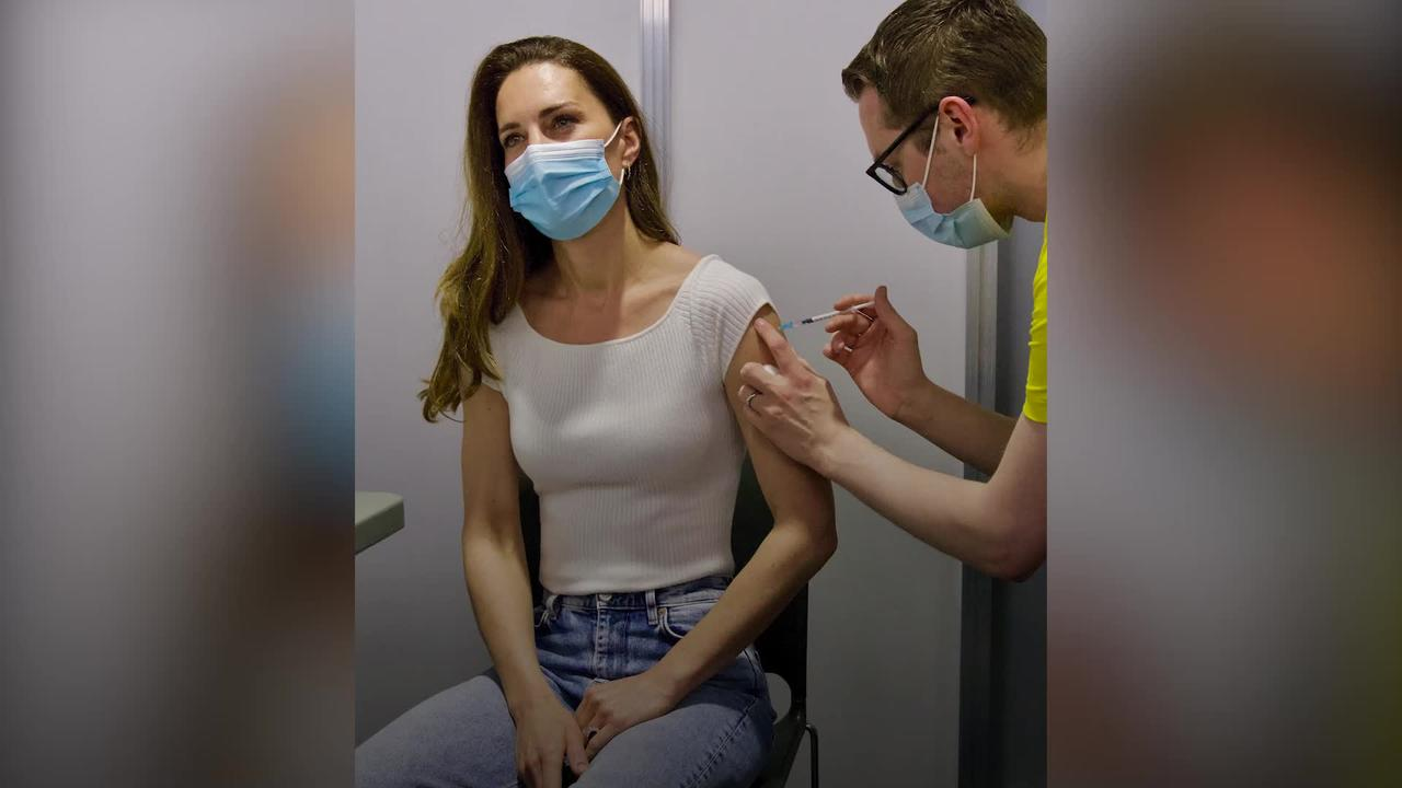 Kate receives her first Covid-19 vaccine dose