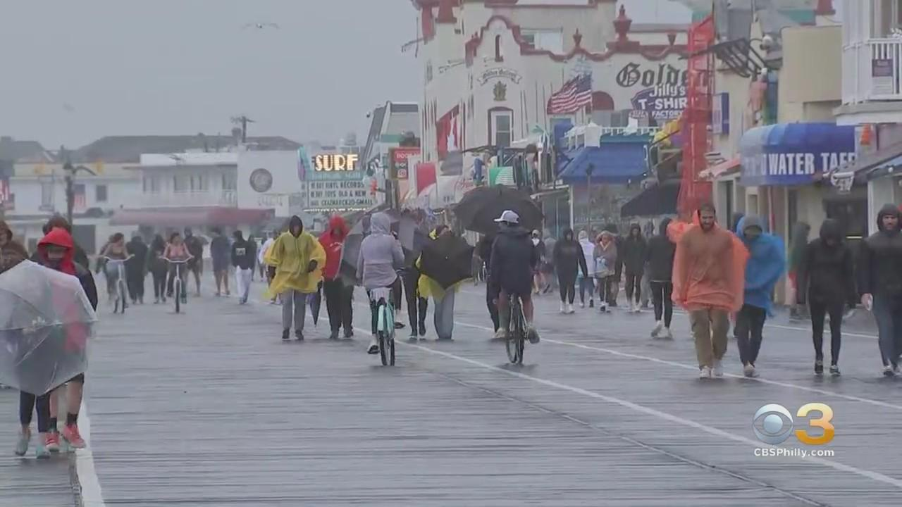 Rainy Weather Slightly Dampens Mood At Jersey Shore