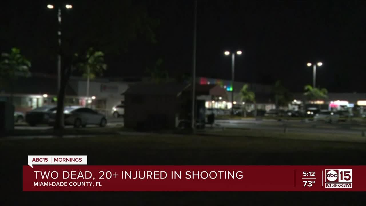 Two dead, more than 20 hurt after shooting in Florida