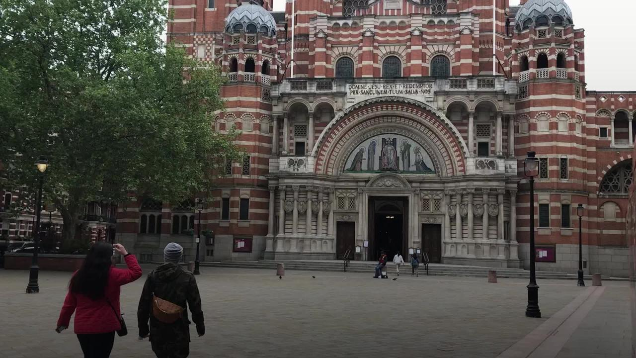 Westminster Cathedral congregation members welcome news of Boris Johnson's secret wedding