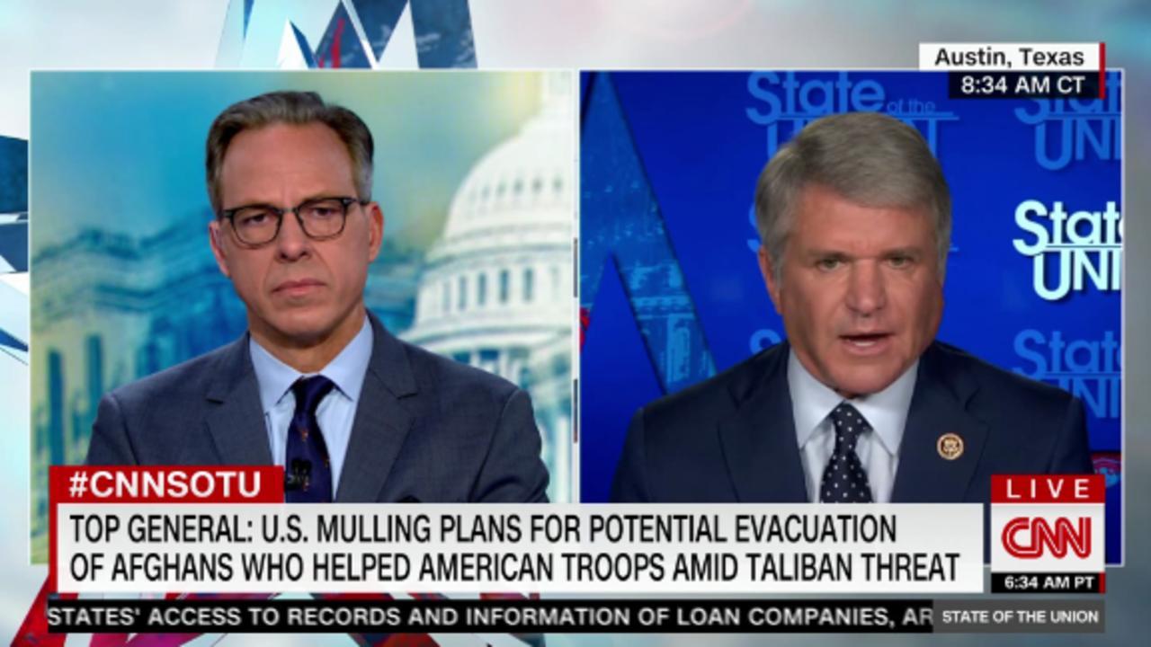 McCaul: Don't leave Afghan interpreters behind