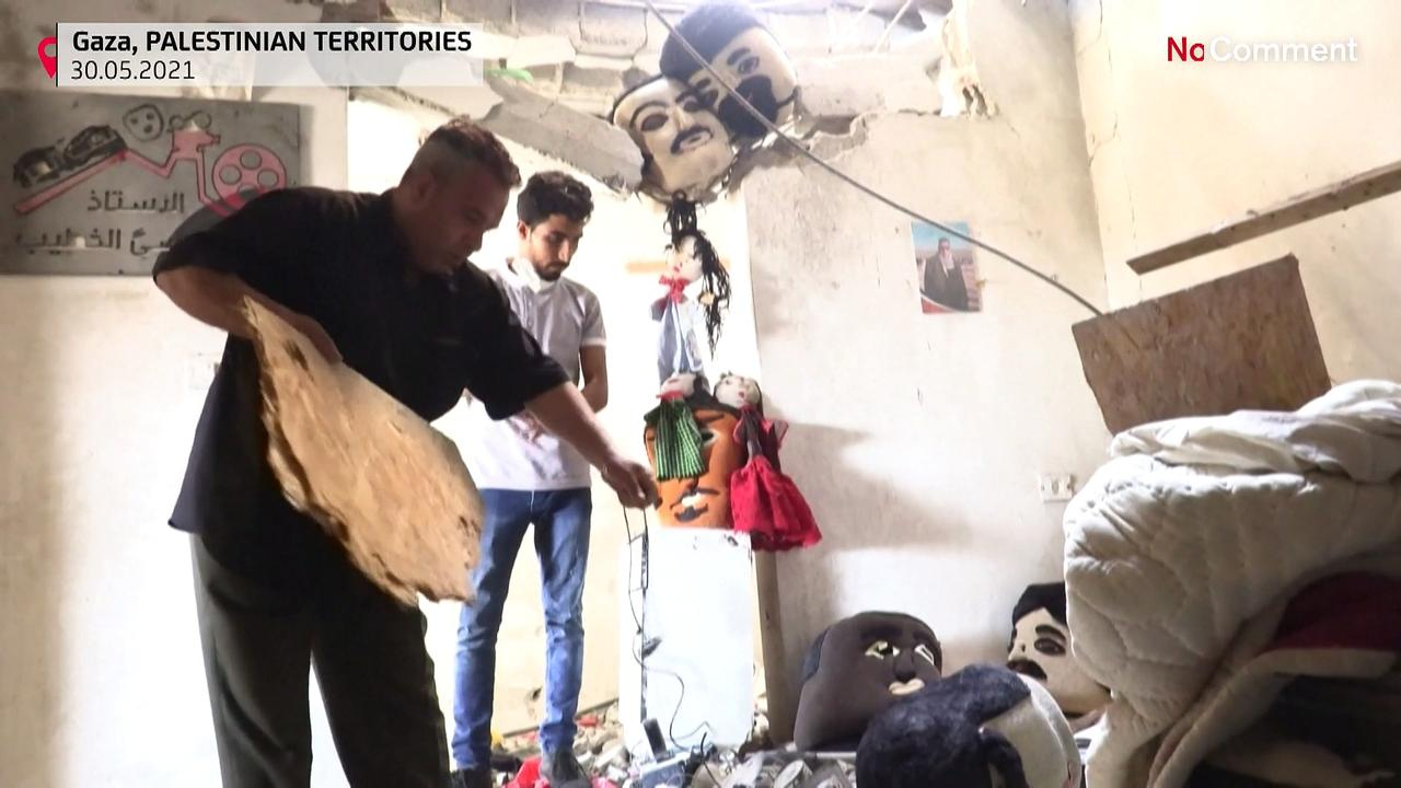 The show must go on! Puppeteers pick up the pieces of destroyed theatre in Gaza