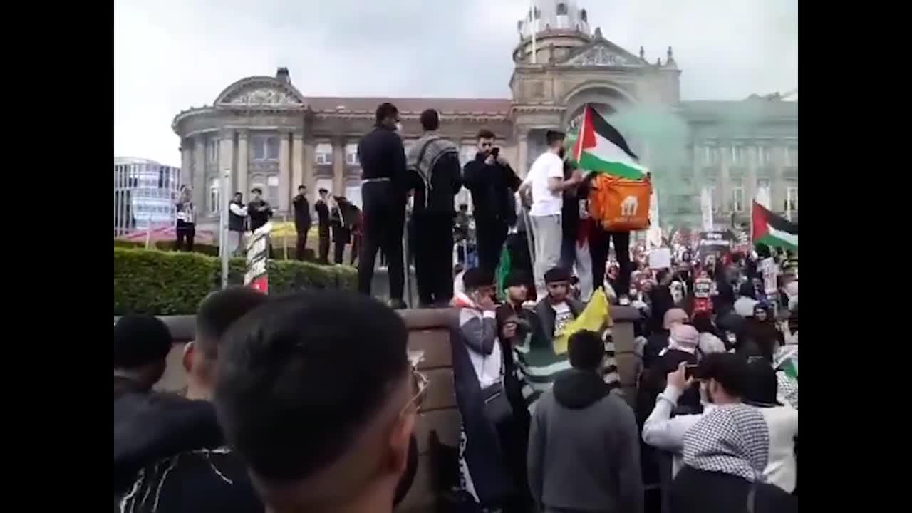 Pro-Palestine protestor gather to march In Birmingham UK