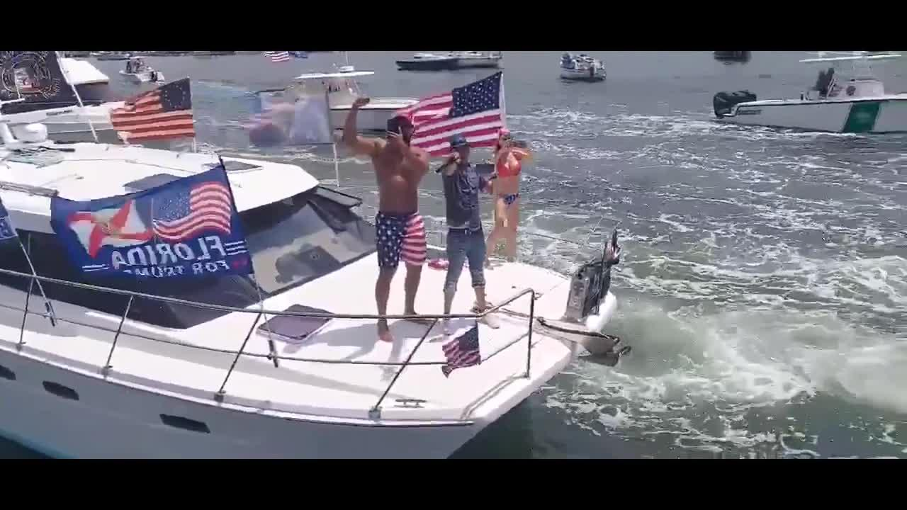 Trump supporters in Florida have boat parade to celebrate Memorial Day