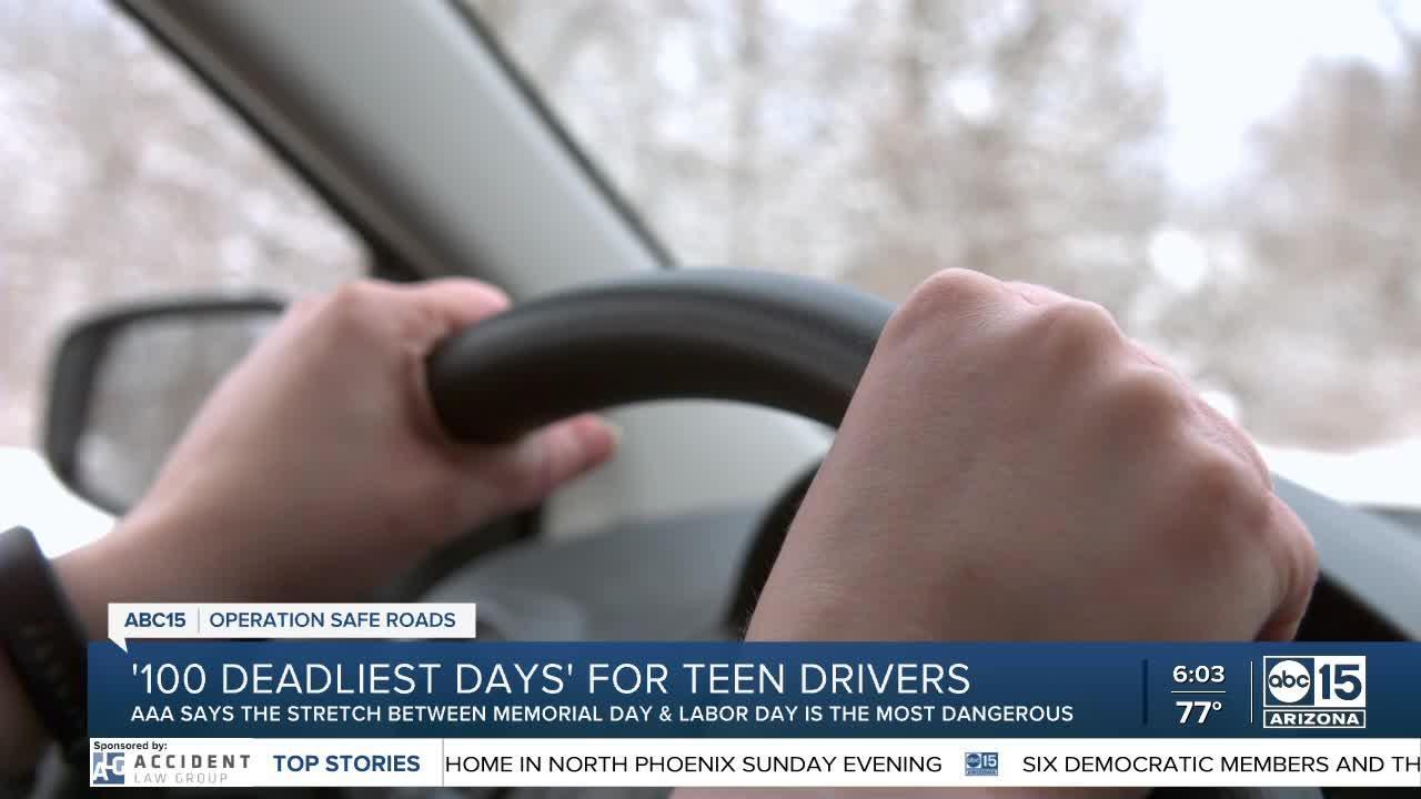 '100 deadliest days' for teen drivers