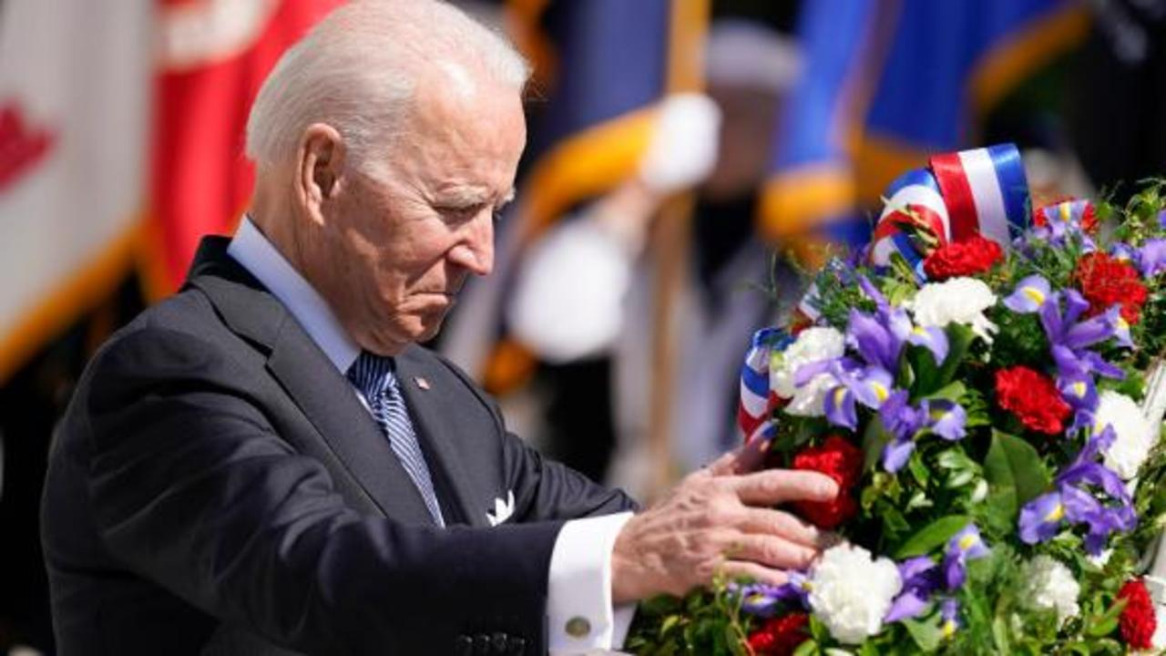 President Biden lays wreath at Tomb of the Unknown Soldier