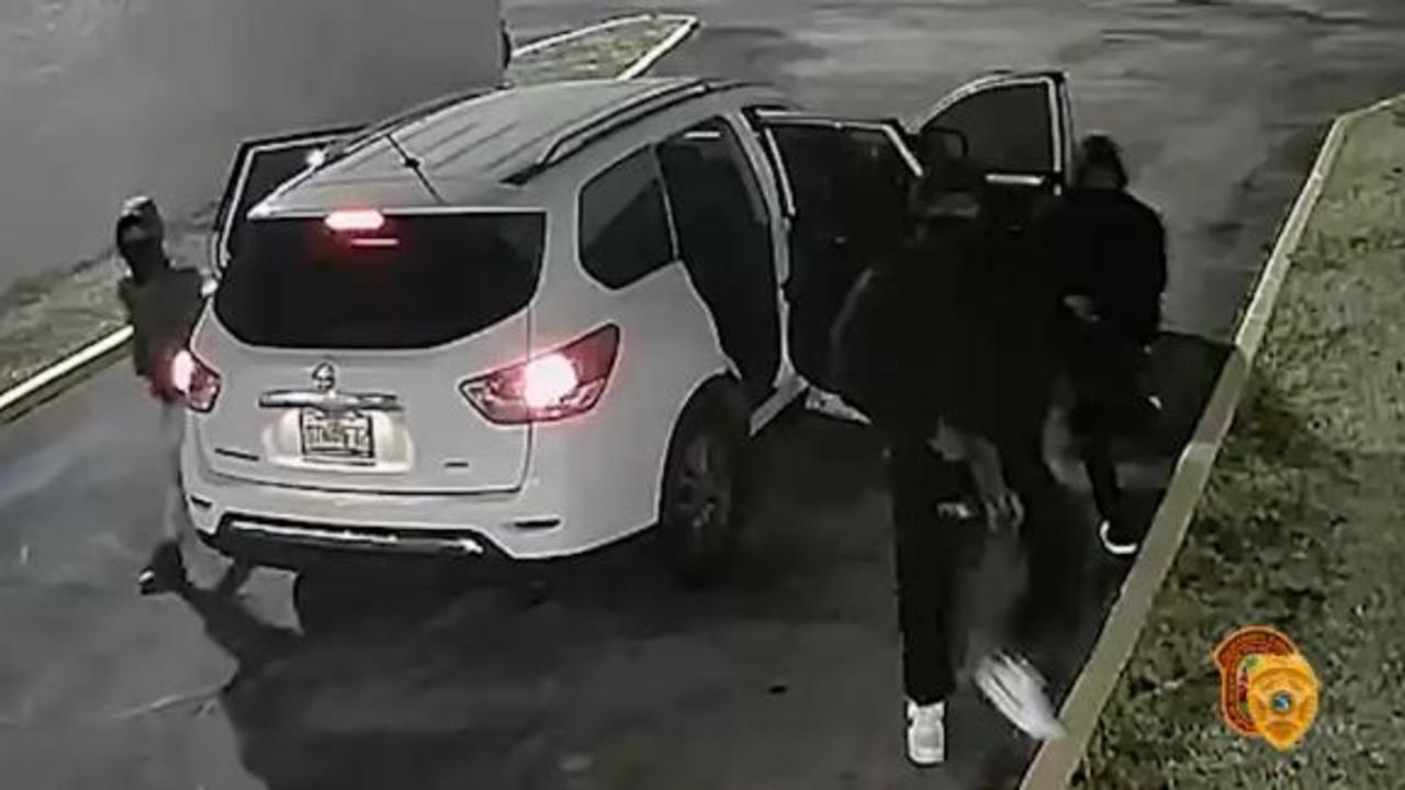 Police release video showing masked gunmen exiting SUV