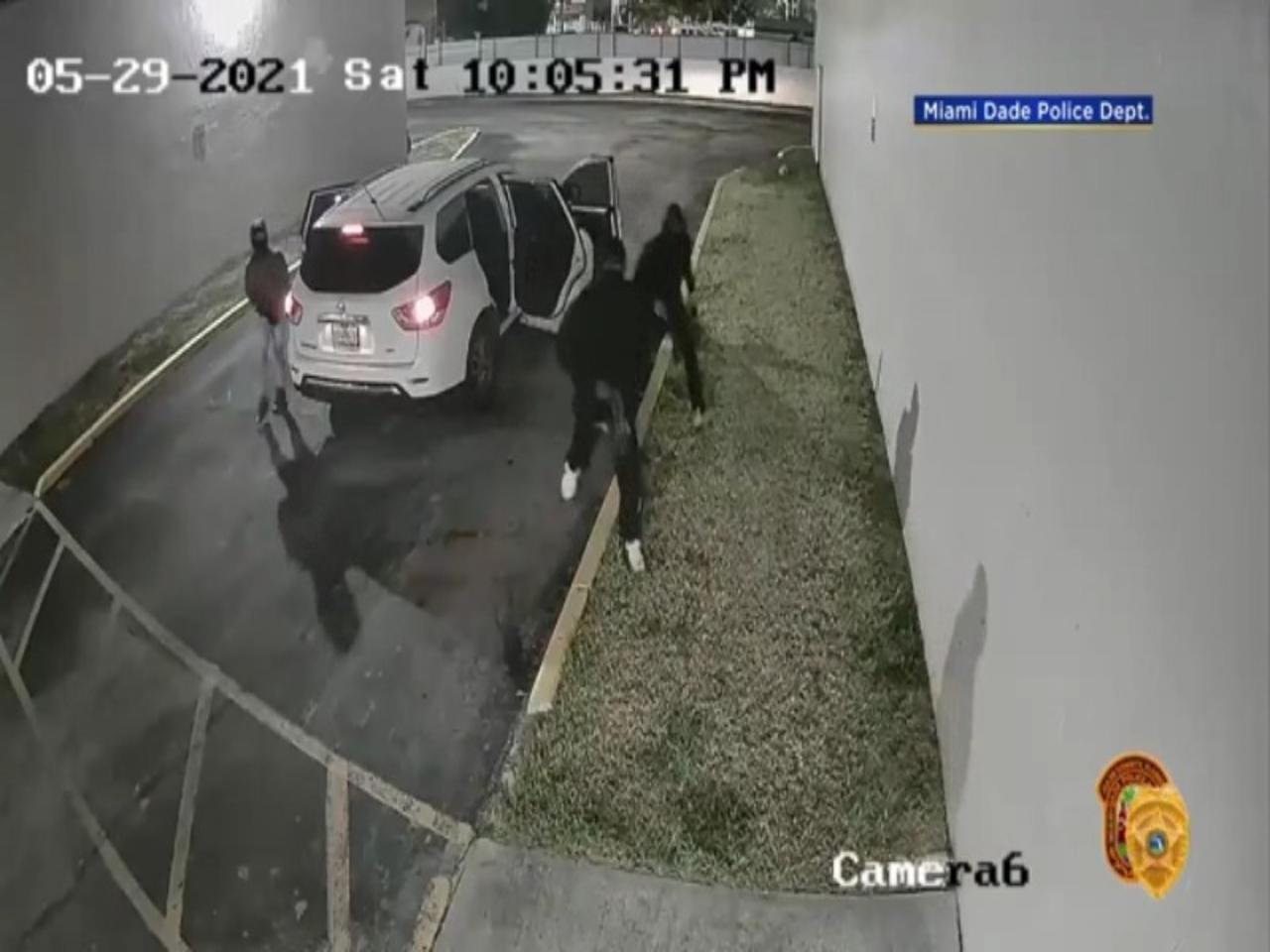 WEB EXTRA: Miami-Dade Surveillance Video Of Gunmen
