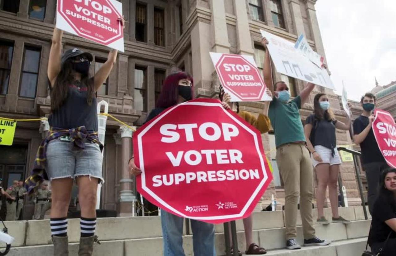 Texas Democrats block vote on election bill