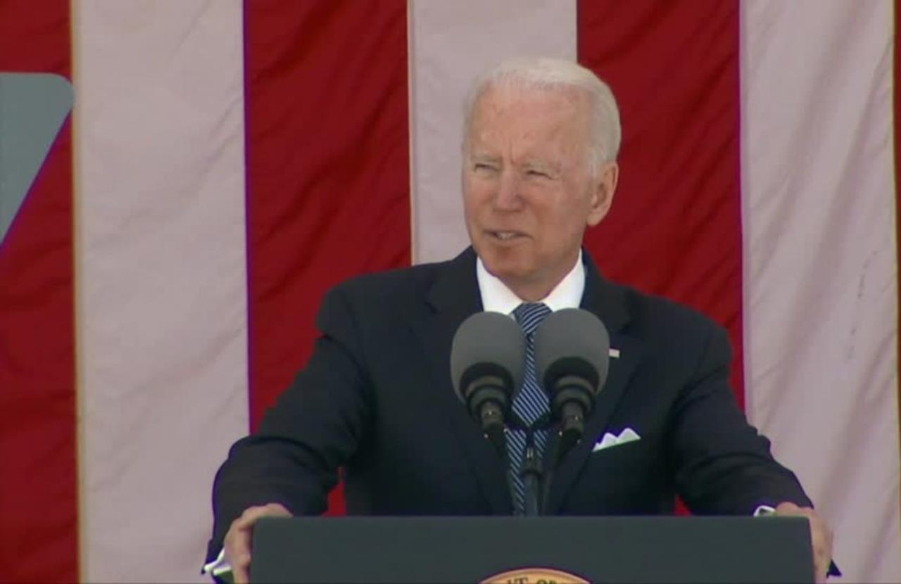 Biden defends 'imperfect' democracy on Memorial Day