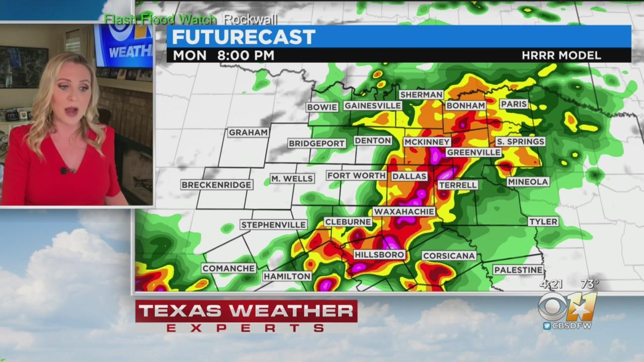 Heavy Rain Moves Into Metroplex Monday Night