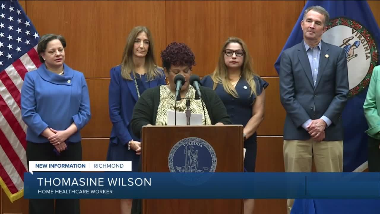 Virginia's home healthcare workers celebrate new paid sick leave