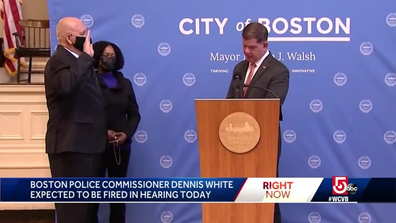 Boston Police Commissioner Dennis White expected to be fired in hearing