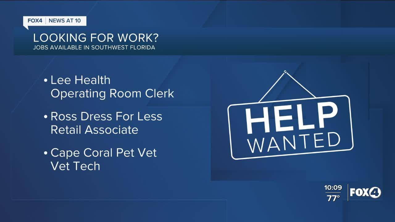 Lee Health, Ross and Cape Coral Pet Vet are hiring