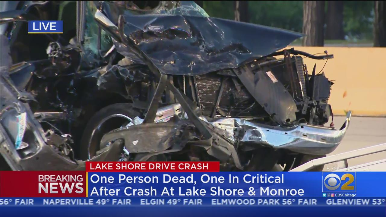 1 Dead, 3 Injured In 4-Vehicle Crash On Lake Shore Drive At Monroe Street