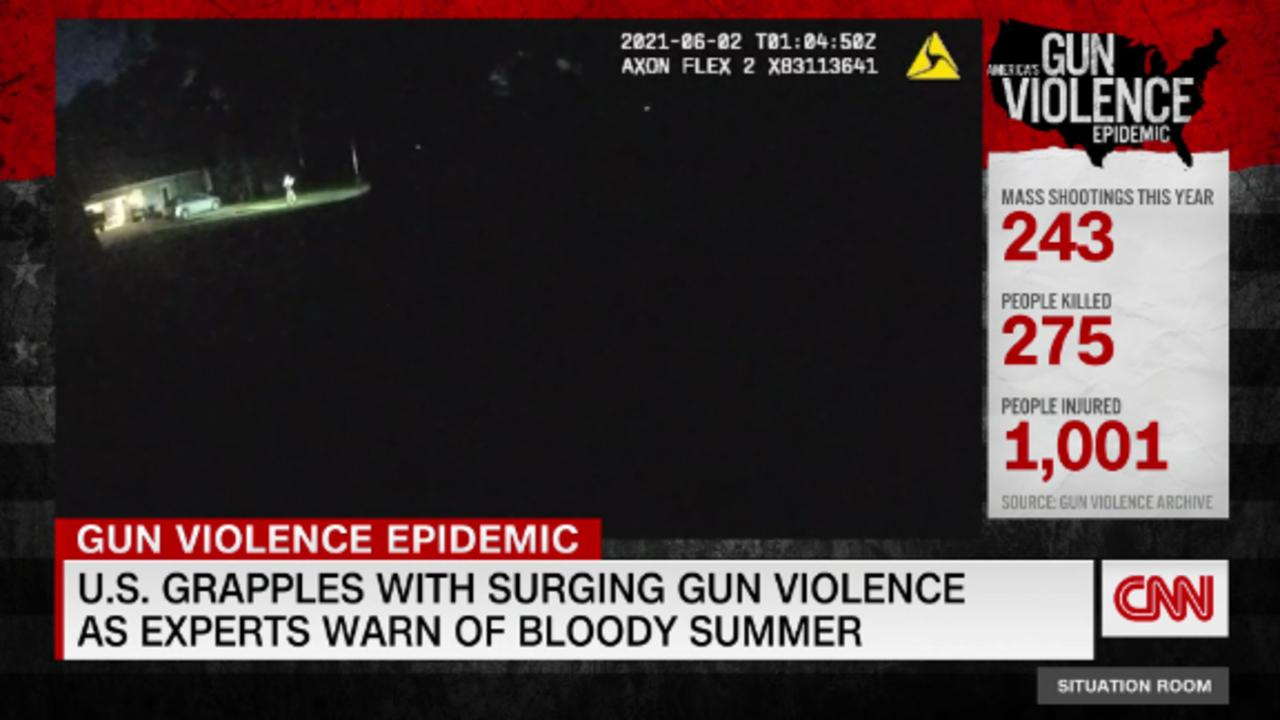 New police videos show gun violence in US