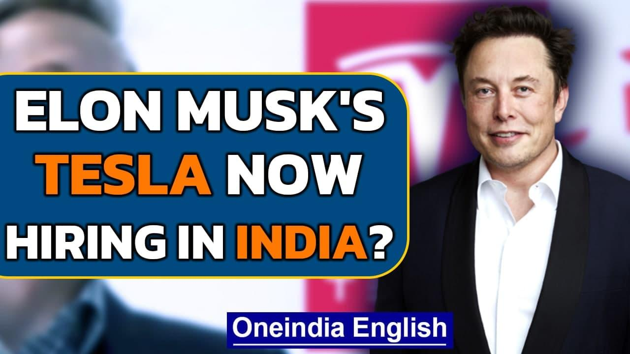 Elon Musk's Tesla begins recruiting for leadership and senior roles in India: Report | Oneindia News