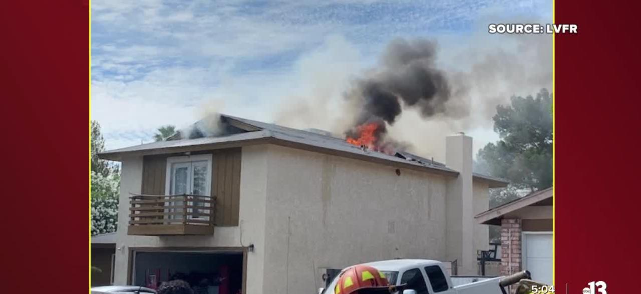 Las Vegas firefighters respond to 3 hours fires in 4 hours