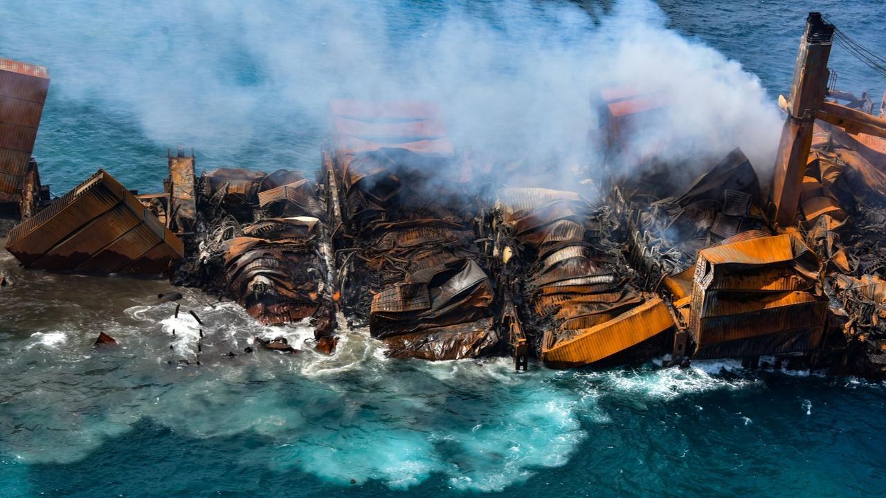 Disaster feared as fire-hit cargo ship sinks off Sri Lanka coast