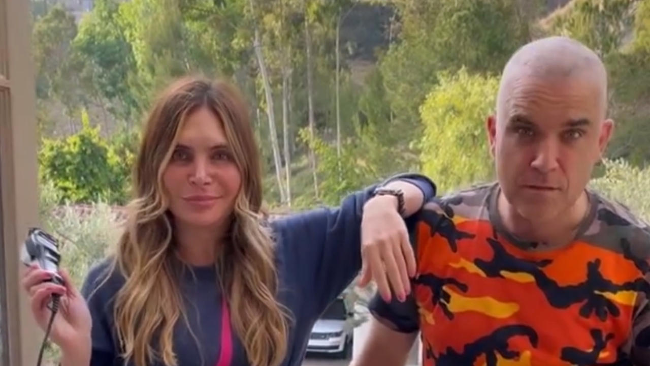 Robbie Williams goes bald after wife Ayda Field shaves his head