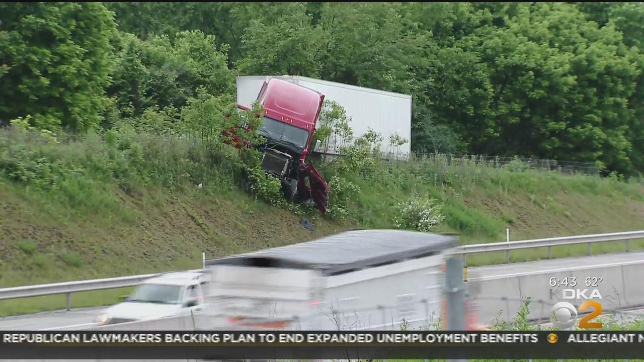 Tractor-Trailer Crash Causing Traffic Disruptions On I-70