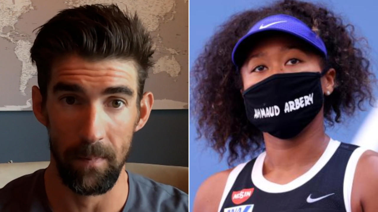Michael Phelps reacts to Osaka's withdrawal decision