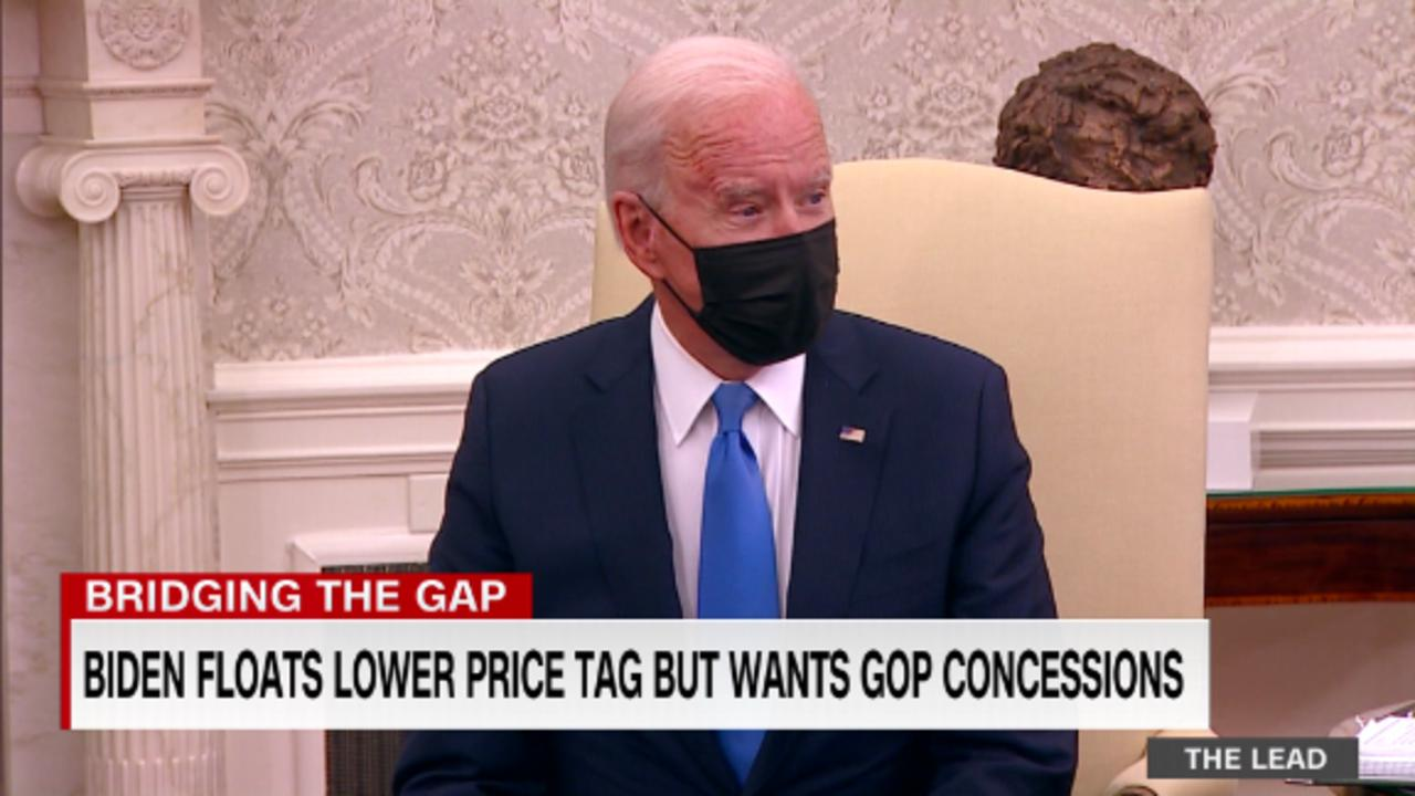Biden floats a lower price tag for infrastructure but wants GOP concessions