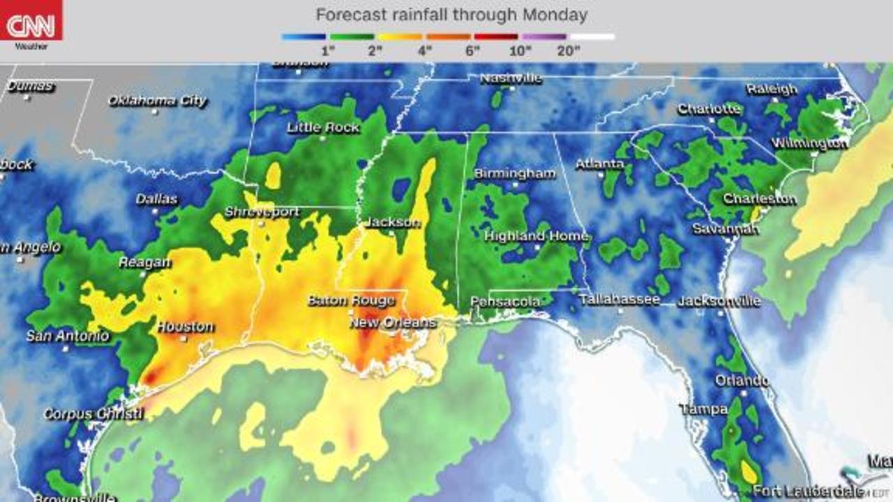 Flood threat for Texas and Louisiana while heat builds East