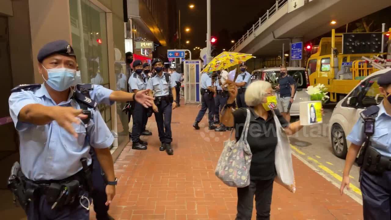 Activist marches through Hong Kong on Tiananmen Square's anniversary despite police crackdown