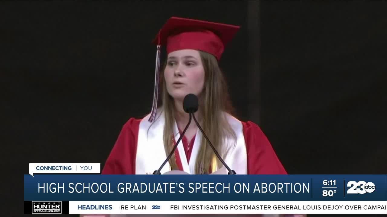 High school graduate's speech on abortion