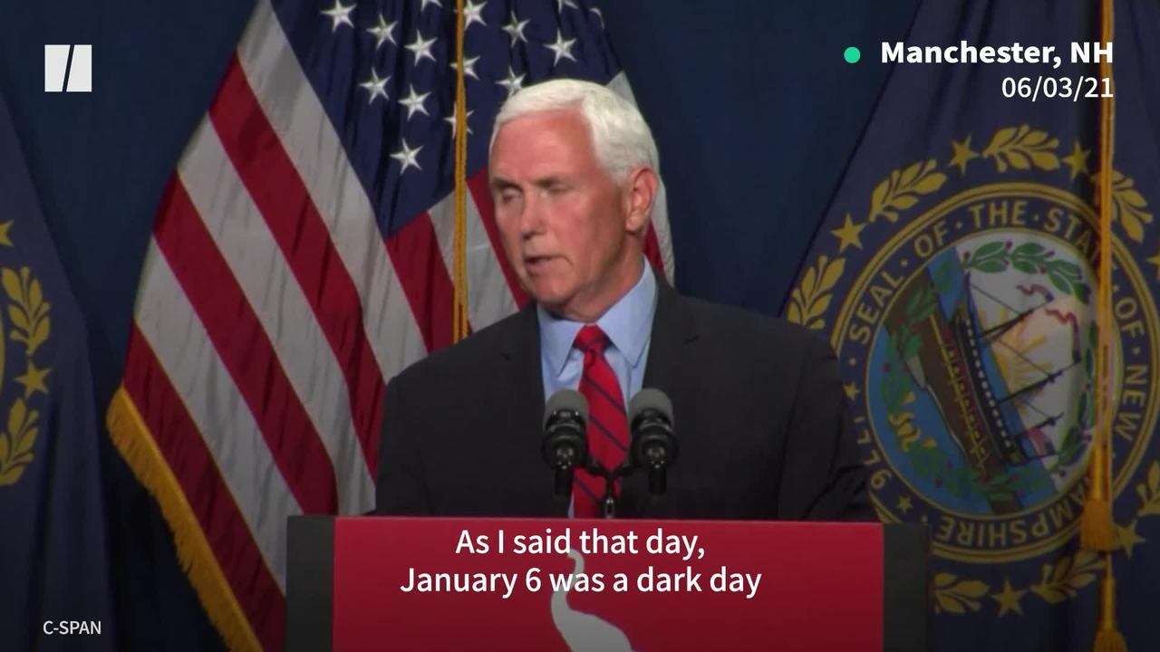 Pence Downplays Trump's Riot Role
