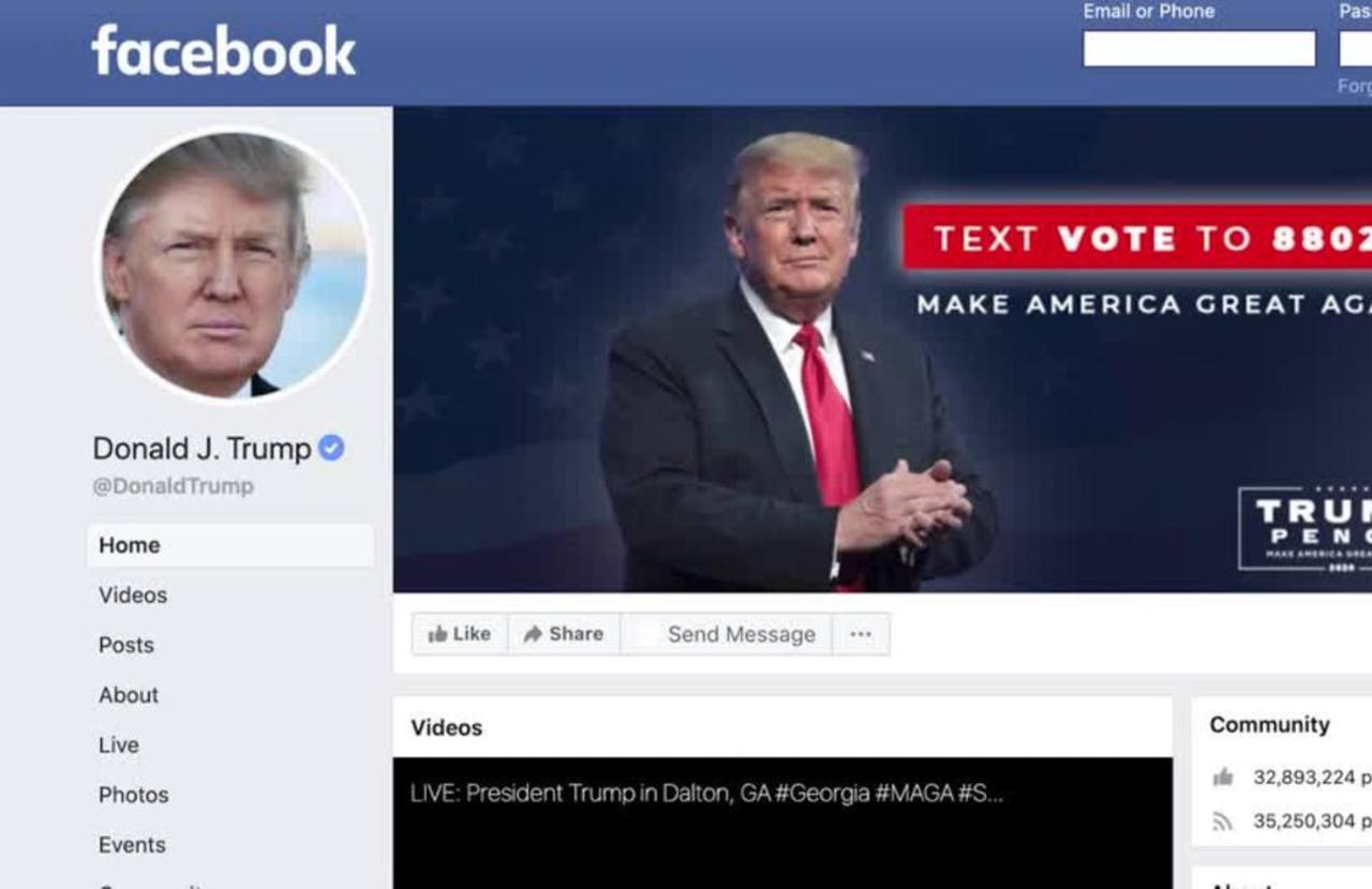 Facebook suspends Trump's account until 2023