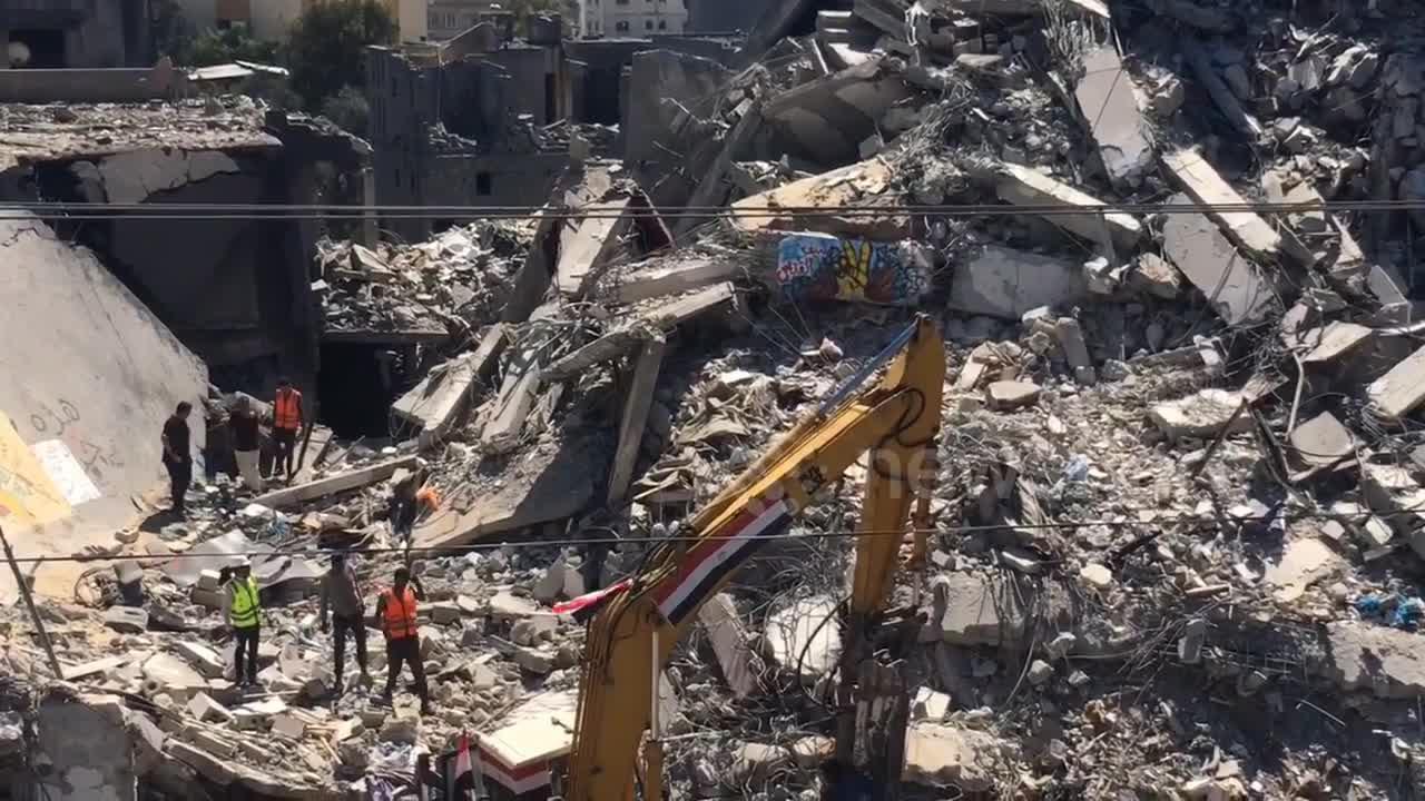 Egypt's engineering team begins rebuilding Gaza from Al-Shorouk Tower