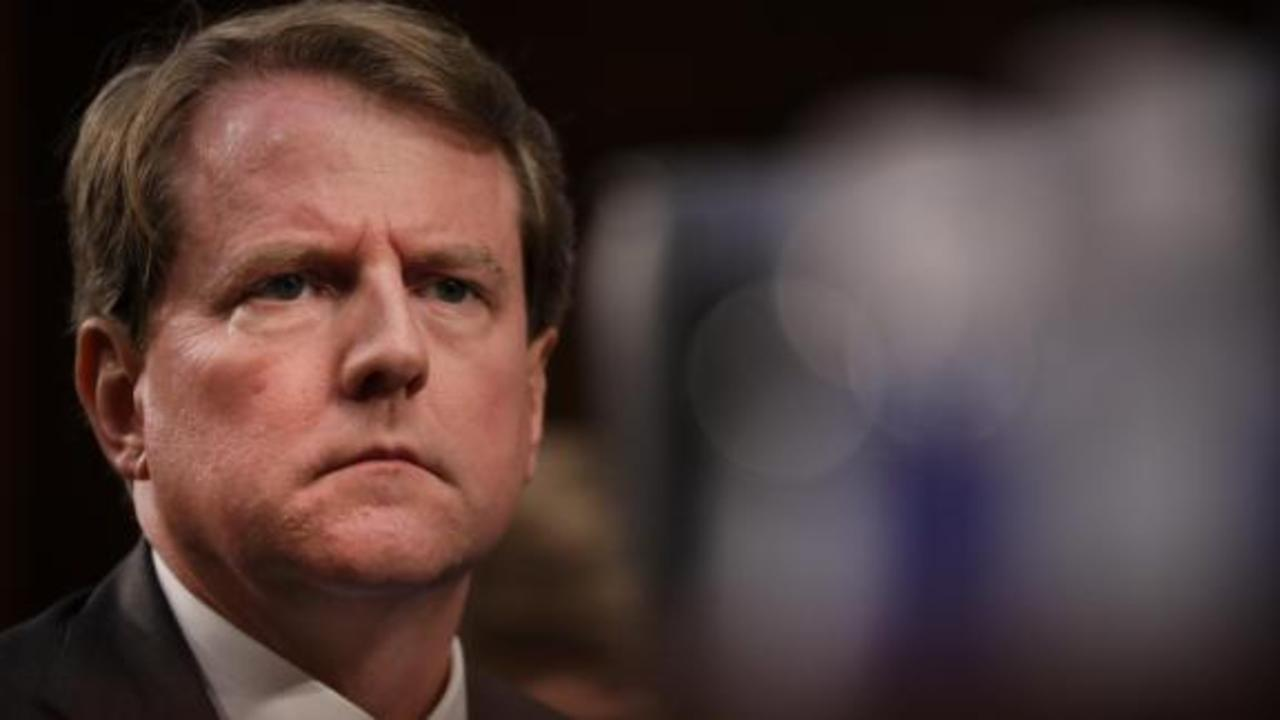 Former White House counsel Don McGahn testifies on Capitol Hill