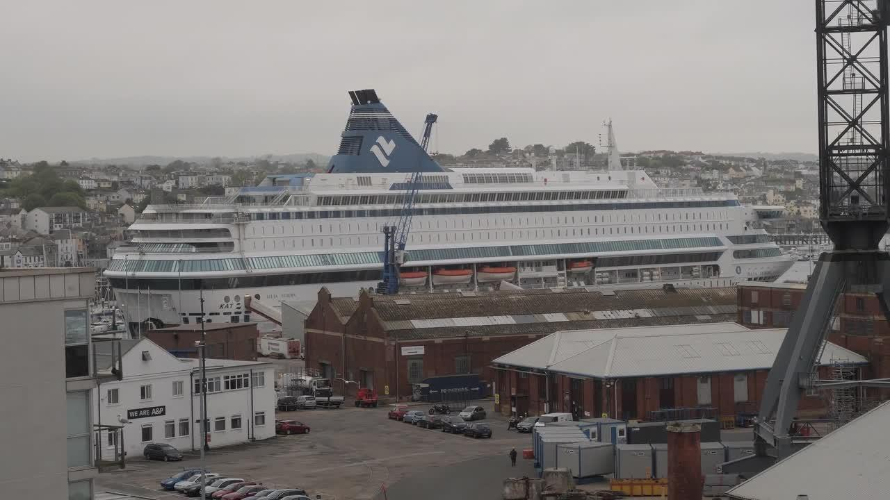 MS Silja Europa luxury cruise ship houses 1,000 officers for G7 Summit in Cornwall