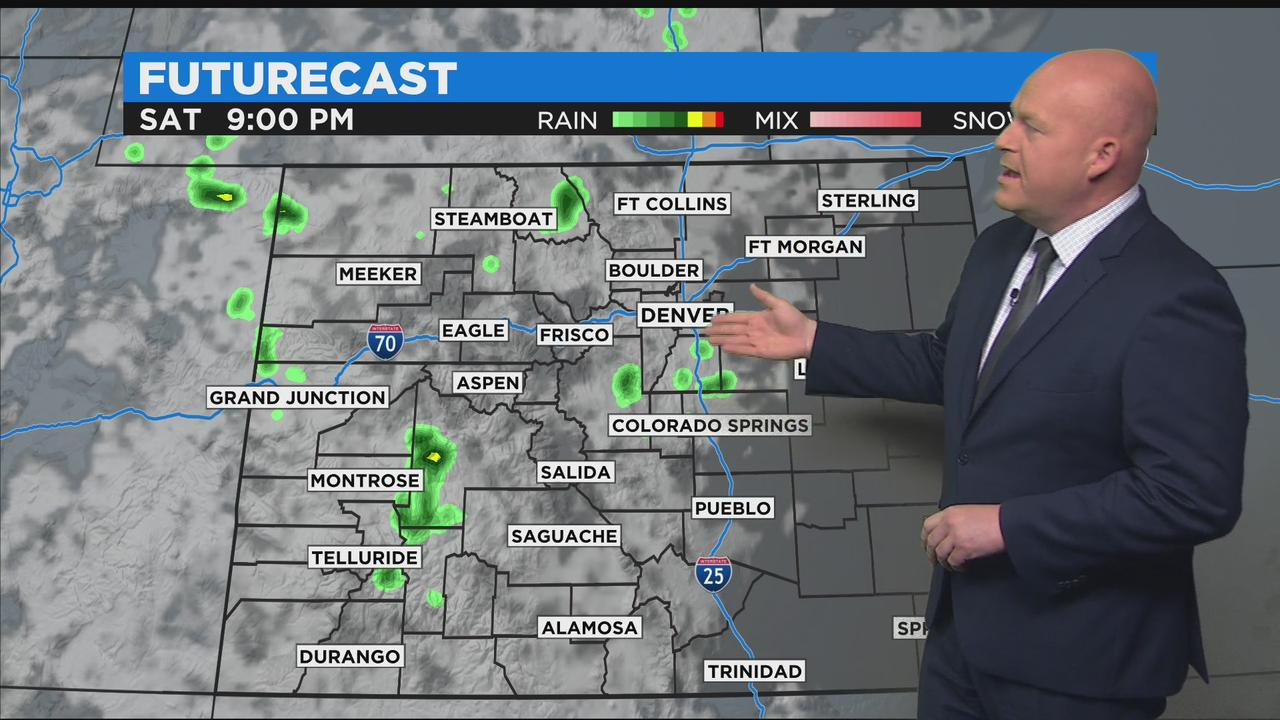 Hot Weekend Ahead With Mountain T-Storms Likely