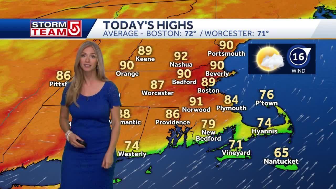 Video: Some spots in Massachusetts will hit 90, Boston will come close
